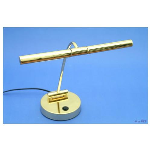 Lampe halogène pour piano droit, laiton brillant, 2 flammes