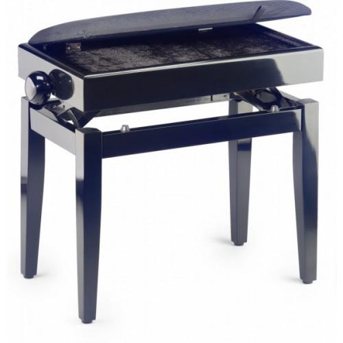 PB55 BKP VBK banquette piano avec coffre de rangement de partitions
