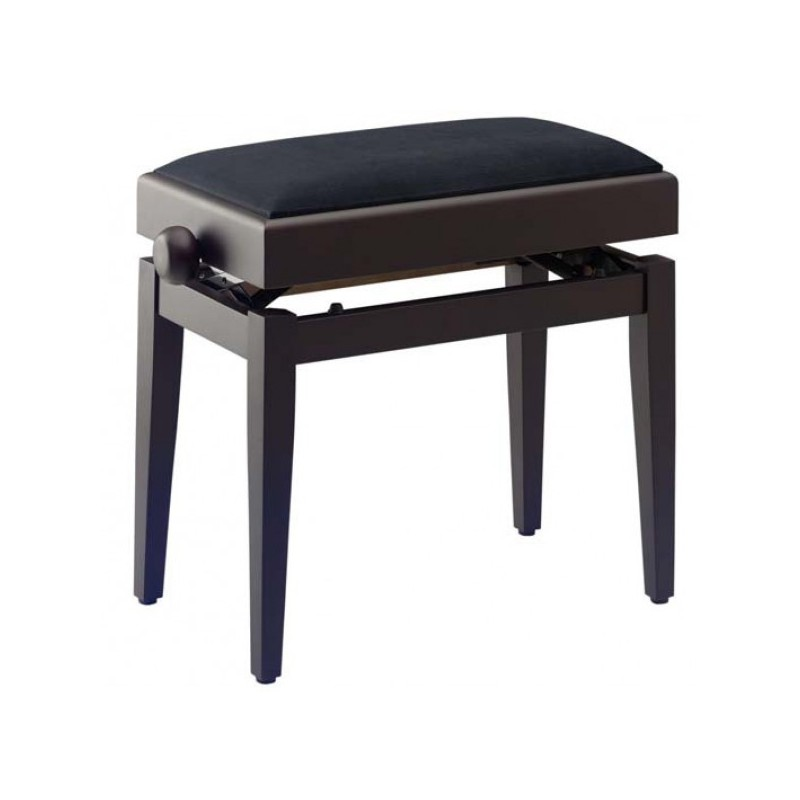 banquette piano avec coffre de rangement stagg pb55 couleur bois de rose avec dessus velours. Black Bedroom Furniture Sets. Home Design Ideas