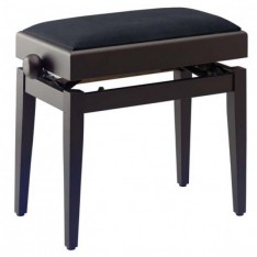 banquette piano avec coffre PB55RWM VBK (couleur bois de rose, dessus velours noir)
