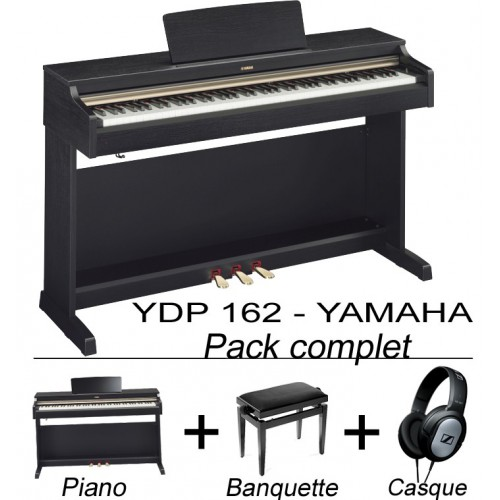 Yamaha YDP162 pack piano + accessoires