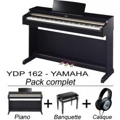 Yamaha YDP162 PE (noir brillant) avec banquette et casque