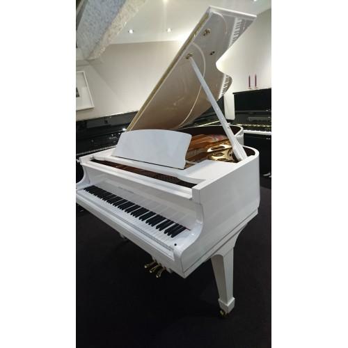 P165 - Piano 1/4 de queue d'occasion Blanc Brillant