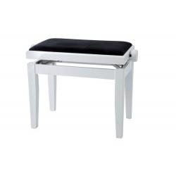 Banquette piano FX by Gewa couleur blanche mat dessus velours noir