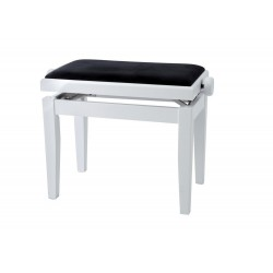 Banquette piano FX by Gewa couleur blanche brillante dessus velours noir