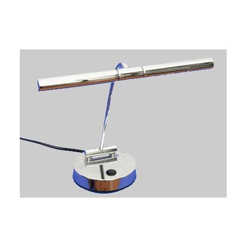 Lampe halogène pour piano droit - chromée poli, 2 flammes