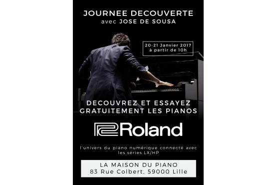 Présentation des pianos numériques ROLAND avec José De Sousa