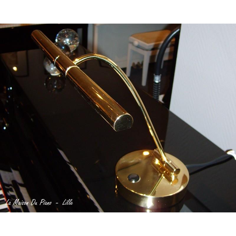 Lampe Pour Piano Droit Finition Laiton Brillant Eclairage Halogene