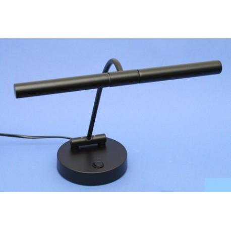 Lampe Pour Piano Droit Finition Noire Mat Eclairage Halogene 2 Flammes
