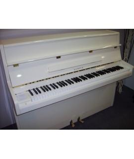 Piano d'occasion Samick S108S ivoire brillant