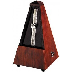 Metronome pyramidal Wittner acajou mat