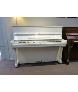 Piano droit d'occasion Samick SU 118 blanc brillant