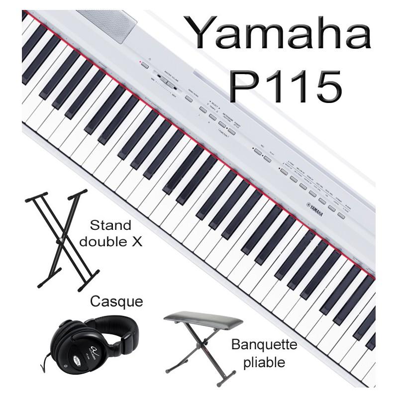 piano num rique yamaha p115 pack 3. Black Bedroom Furniture Sets. Home Design Ideas