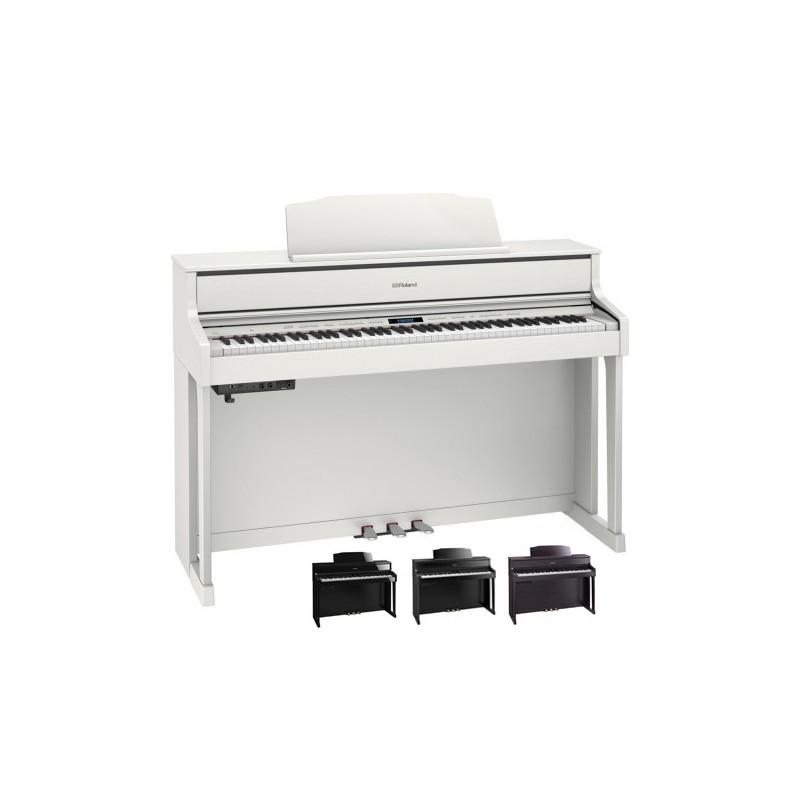 piano numerique hp 605 piano noir verni. Black Bedroom Furniture Sets. Home Design Ideas