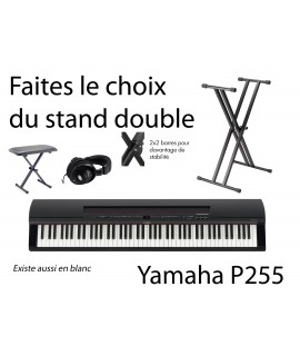 Yamaha P255- noir - PACK