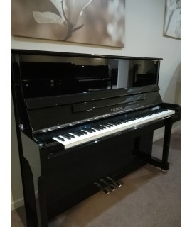 piano d'occasion feurich 122 noir brillant
