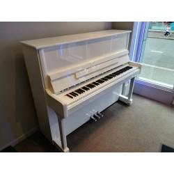 piano d'occasion feurich 122 blanc brillant