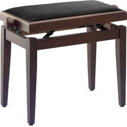 banquette piano PB40 noyer mat dessus noir