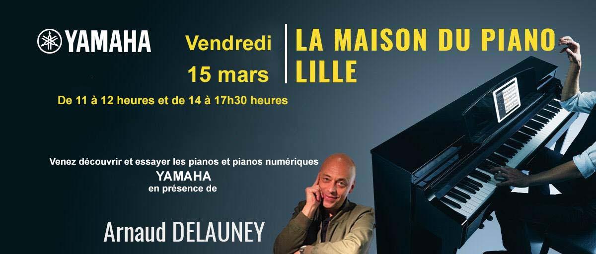 Arnaud Delauney démonstrateur piano à Lille