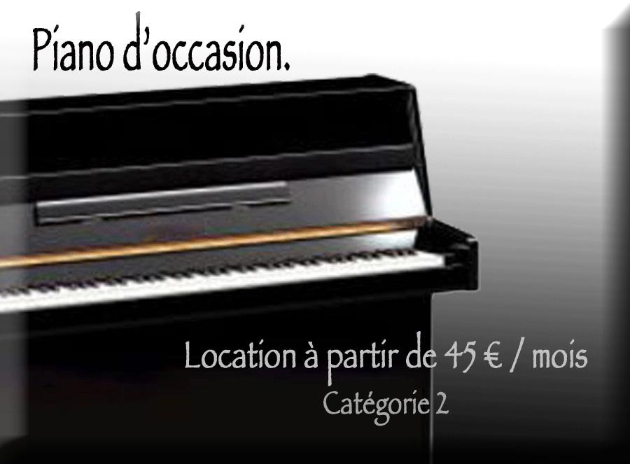 Location de piano avec option d'achat catégorie 2