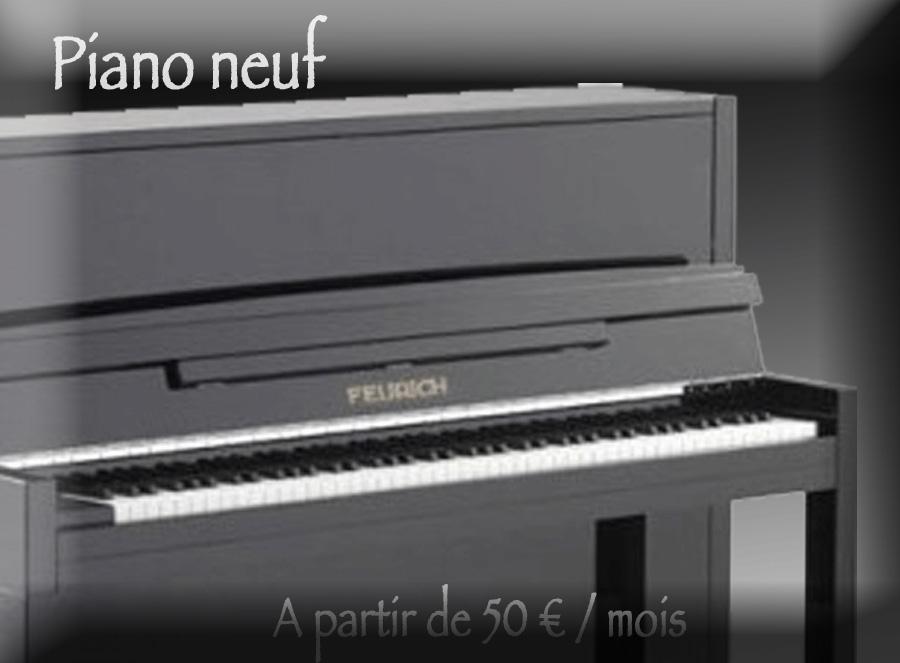 Location de piano neuf avec option d'achat