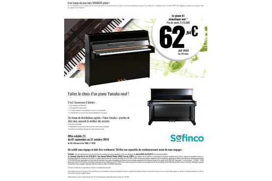 Offre de rentrée Yamaha piano